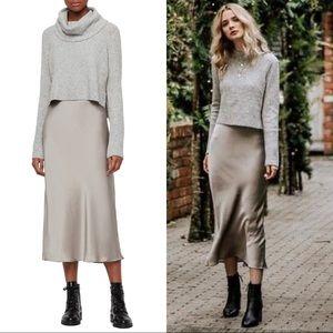 NWT AllSaints Tierny Two-Piece Sweater & Slipdress